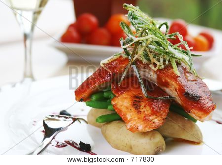 Barbecued Atlantic Salmon