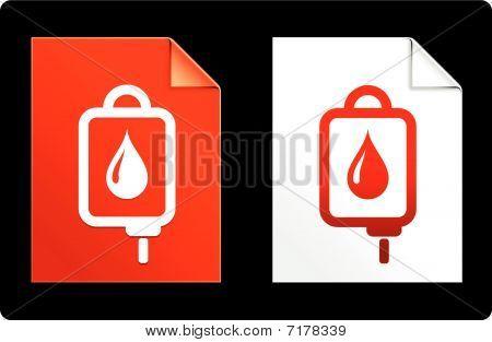 IV infuus op papier instellen