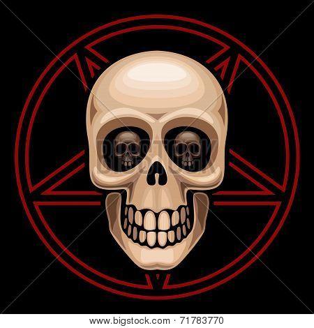 Skull and pentagram