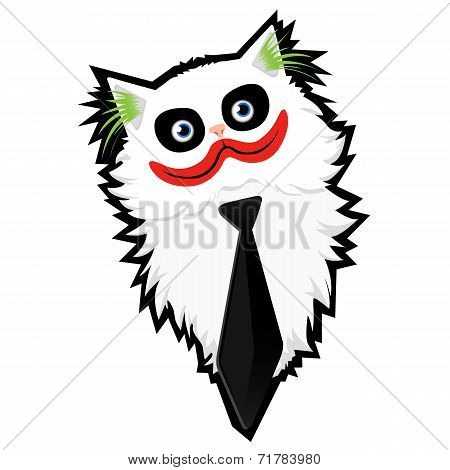 Funny cartoon Cat-Joker