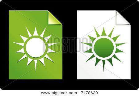 Sol no conjunto de papel