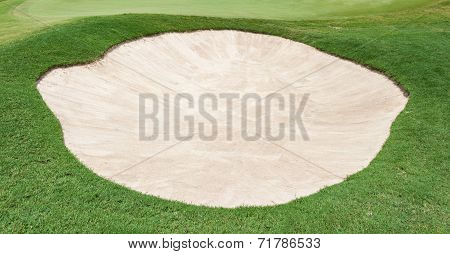 The Big Sand Bunker On The Beautiful Golf Course