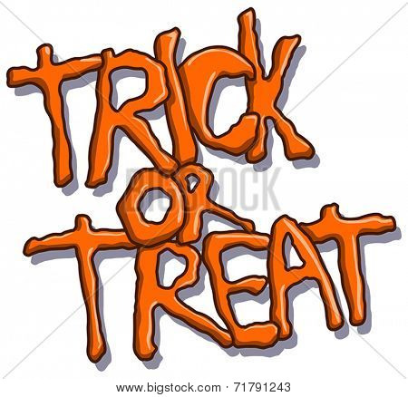 Trick or treat vector Halloween text