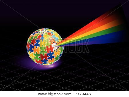 Multi Colored Globe