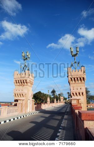 The Bridge In Royal Park Of El Montazah In Alexandria. Egypt.