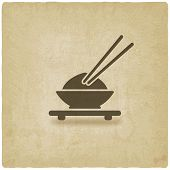 picture of chinese menu  - Asian food old background  - JPG