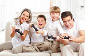 image of video game controller  - Happy family - JPG