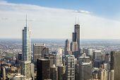 image of illinois  - Beautiful skyline of Chicago  - JPG