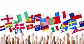 foto of diversity  - Diverse People Holding Diverse National Flags - JPG