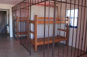 foto of bunk-bed  - A double bunk in a pretend jail cell - JPG