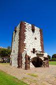 stock photo of canary-islands  - Torre del Conde Tower in sunny day at La Gomera island - JPG