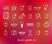 Постер, плакат: Set of dentistry symbols