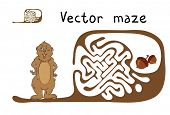 stock photo of groundhog day  - Vector Maze - JPG