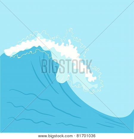 Blue High sea wave