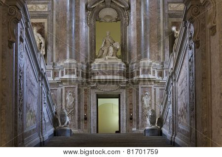 Caserta Royal Palace, The Honour Grand Staircase