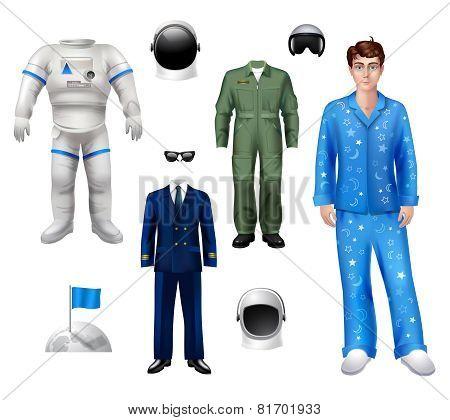 Astronaut Boy Set