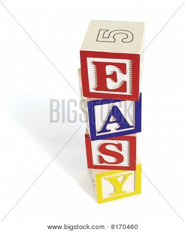 Easy Alphabet Block Stack