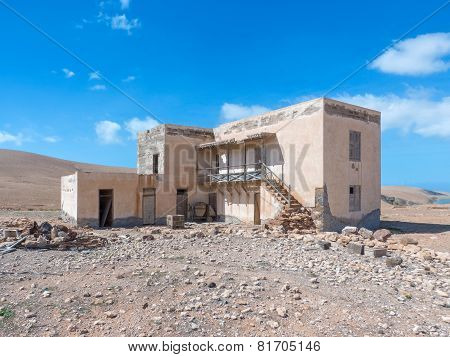 Ruin of a house in Fuerteventura