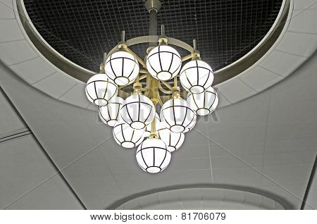 Lamp In The Kyiv Subway Station, Kyiv, Ukraine