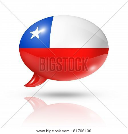 Chilean Flag Speech Bubble