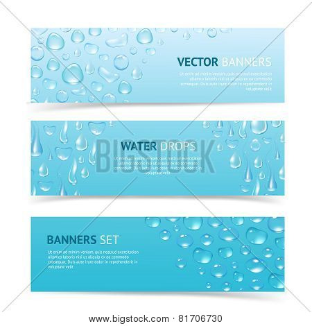 Water Drops Banners