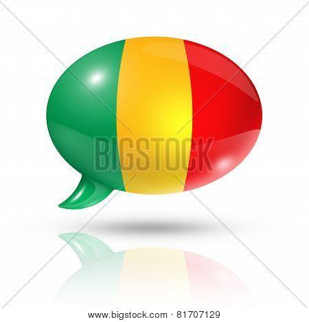 Malian Flag Speech Bubble