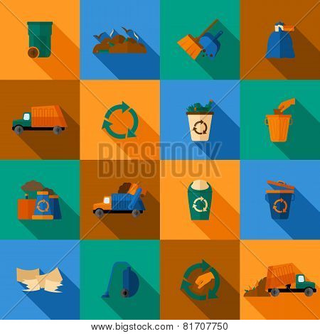 Garbage Icons Set