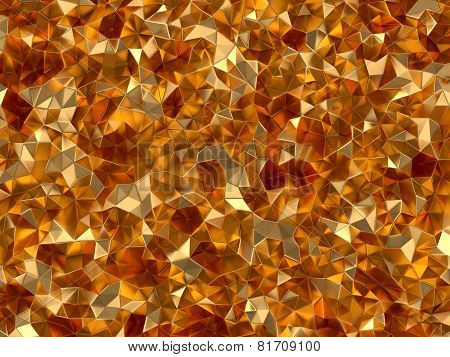 Golden Abstract Technology Background