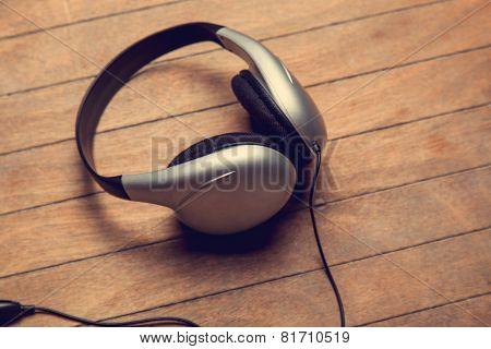 Headphones On A Table.