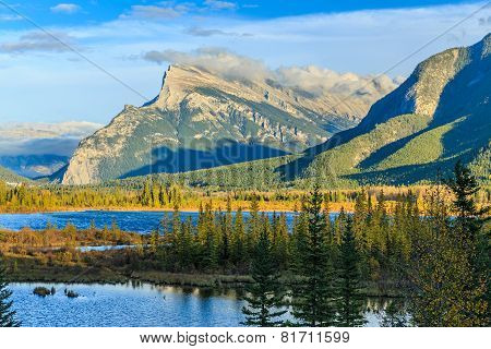 Vermillion Lake and Mount Rundle
