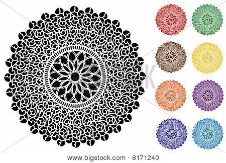 Filigree Lace Doilies, 9 Jeweltone Colors