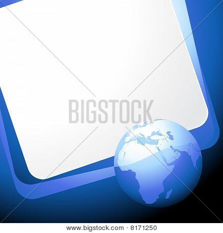 blue earth vector templete