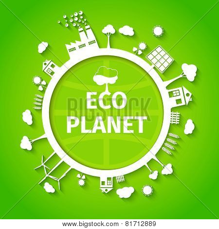 Eco planet background poster