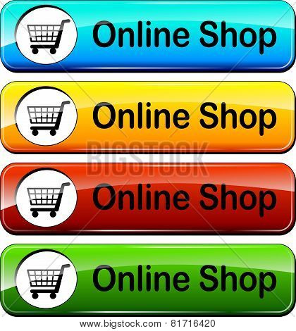 Online Shop Push Buttons
