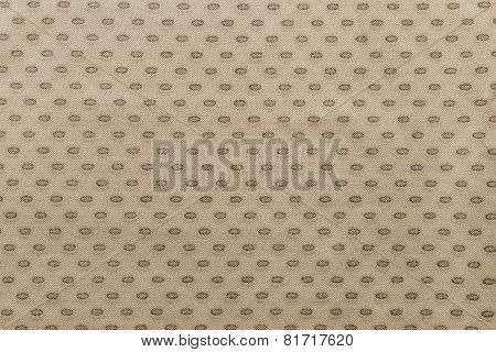 Beige Fabric With Spots Ovals