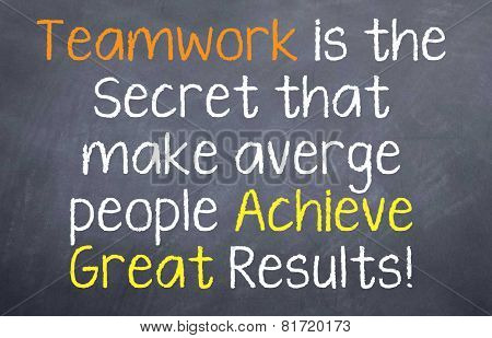 Teamwork Leads to Great Results