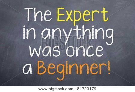 Expert was once a Beginner