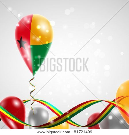 Flag of Guinea Bissau on balloon