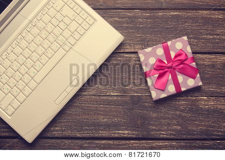 Laptop And Chirstmas Gift