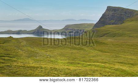 Coastline Landscape In Skye Isle. Scotland. Uk