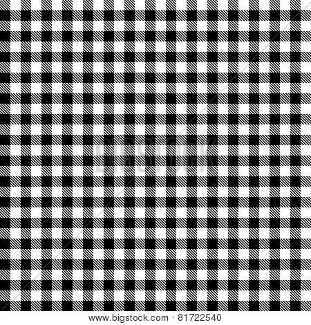 Checkered Tablecloths Pattern - Endless - Black
