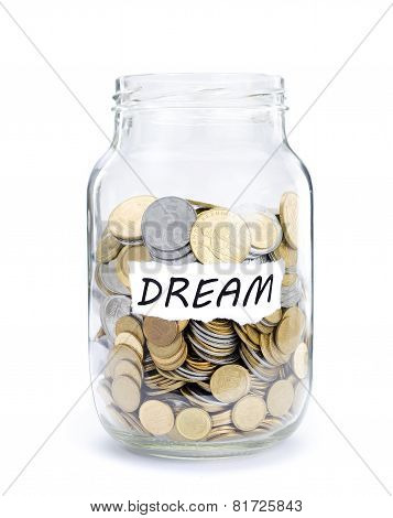 Jar with coins on Dream.