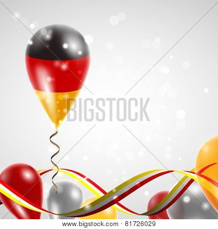Flag of Germany on balloon