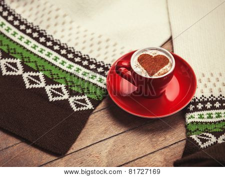 Cup Of coffee With Shape Heart
