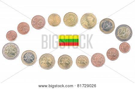 Set Of Lithuania Euro Coins