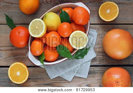 Citrus Fruits - Orange, Lemon, Grapefruit, Tangerine