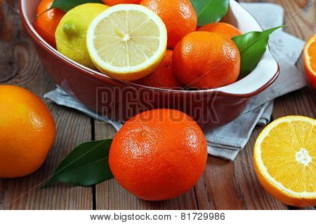 Citrus Fruits - Orange, Lemon, Tangerine