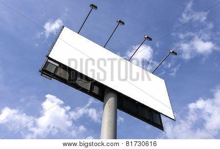 Outdoor Billboard Against Blue Sky