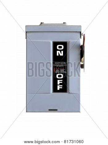 Electrical Safety Switch Box On Isolate Background