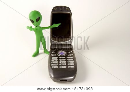 Alien With A Cell Phone
